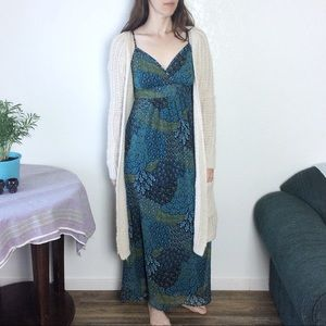 Apt. 9 • blue & green paisley maxi dress